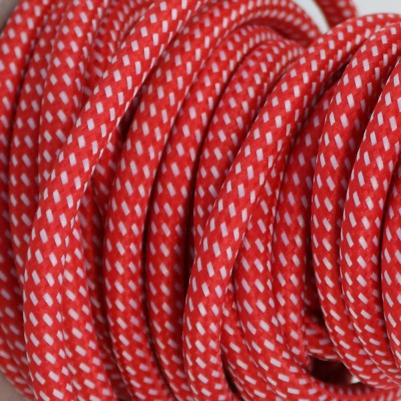 Câble Electrique Textile Bicolore Rougeblanc