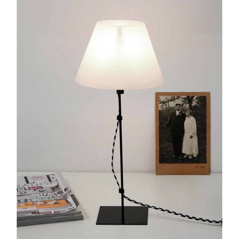 LAMPE FILS NOIR ARLEQUIN