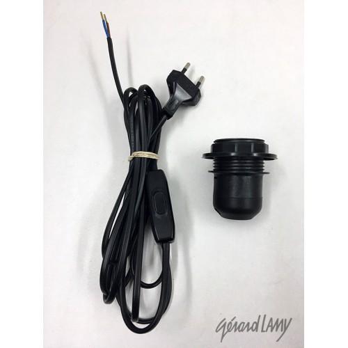 CABLE PVC NOIR AVEC INTER A MAIN ET FICHE