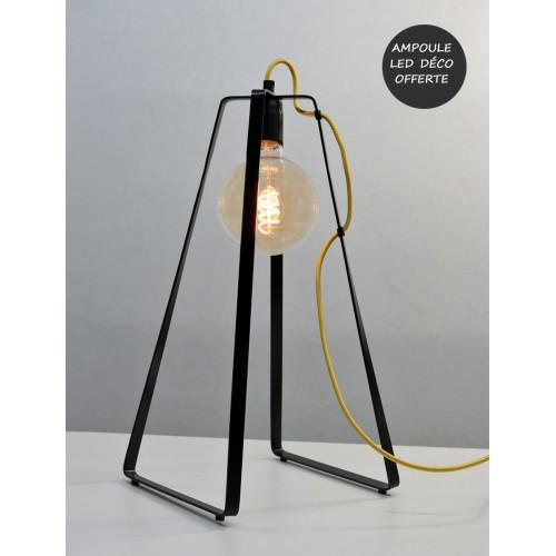 LAMPE LU CABLE JAUNE
