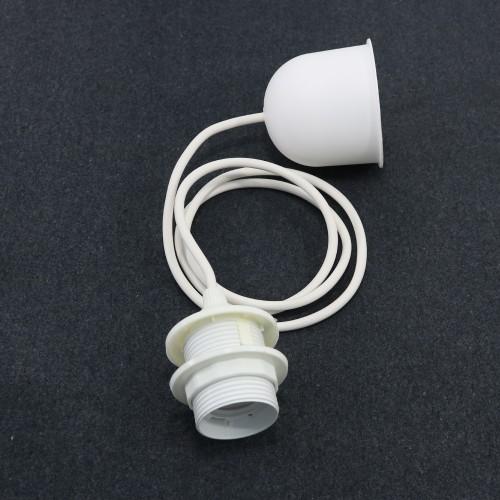 MONTURE ELECTRIQUE E27 BLANC - 120 CM