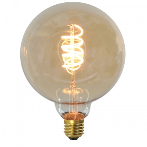 AMPOULE LED DECORATIVE GLOBE Ø125 FILAMENT SPIRALE
