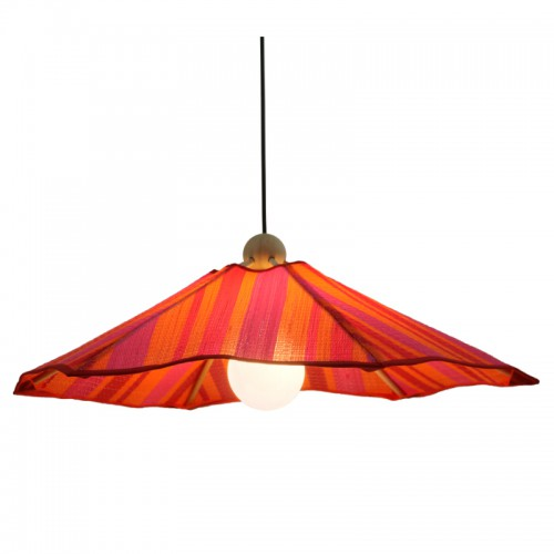 SUSPENSION NATTE SENEGAL ROSE ORANGE