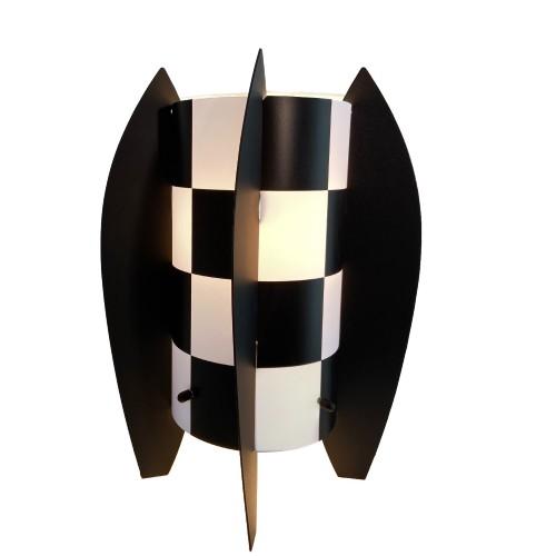 LAMPE ALBOP DAMIER NOIR