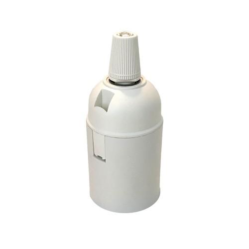 DOUILLE E27 PVC BLANC LISSE
