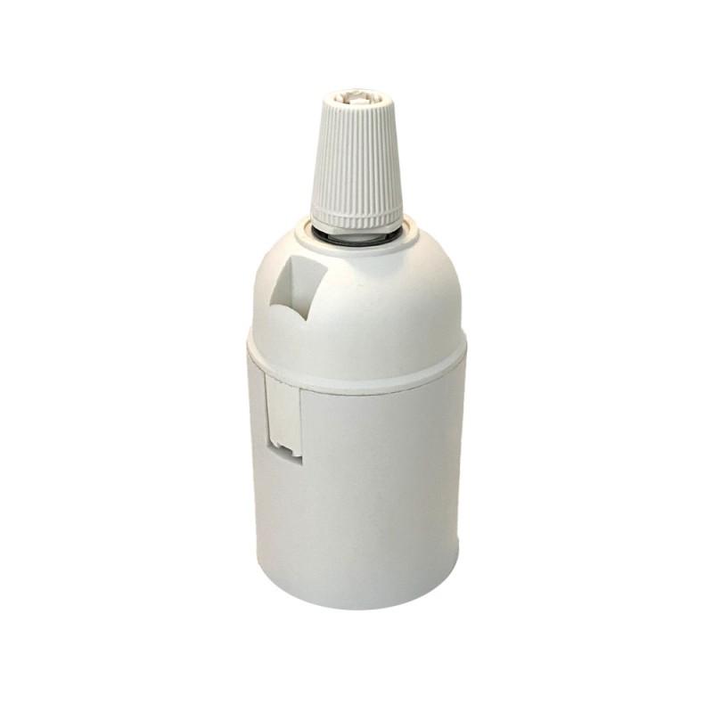 DOUILLE E27 LISSE PVC BLANC