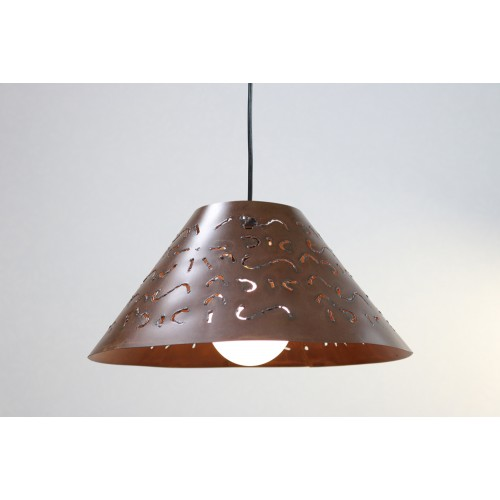 SUSPENSION ACIER CORTEN BIZERTE Ø 36CM
