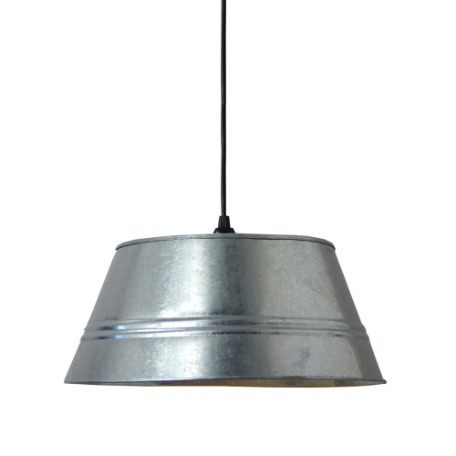 SUSPENSION GALVA Ø 33 CM 3322 BRUT