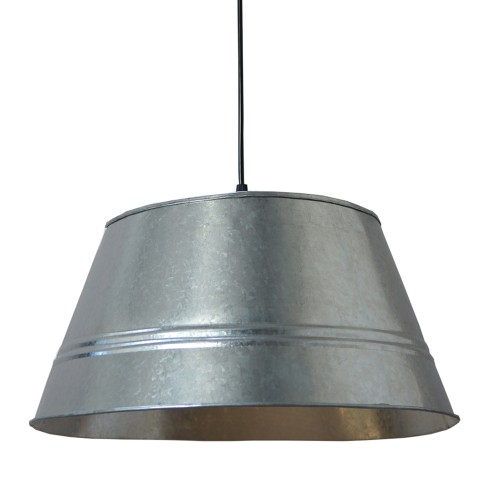 SUSPENSION GALVA Ø 40 CM 4026 BRUT