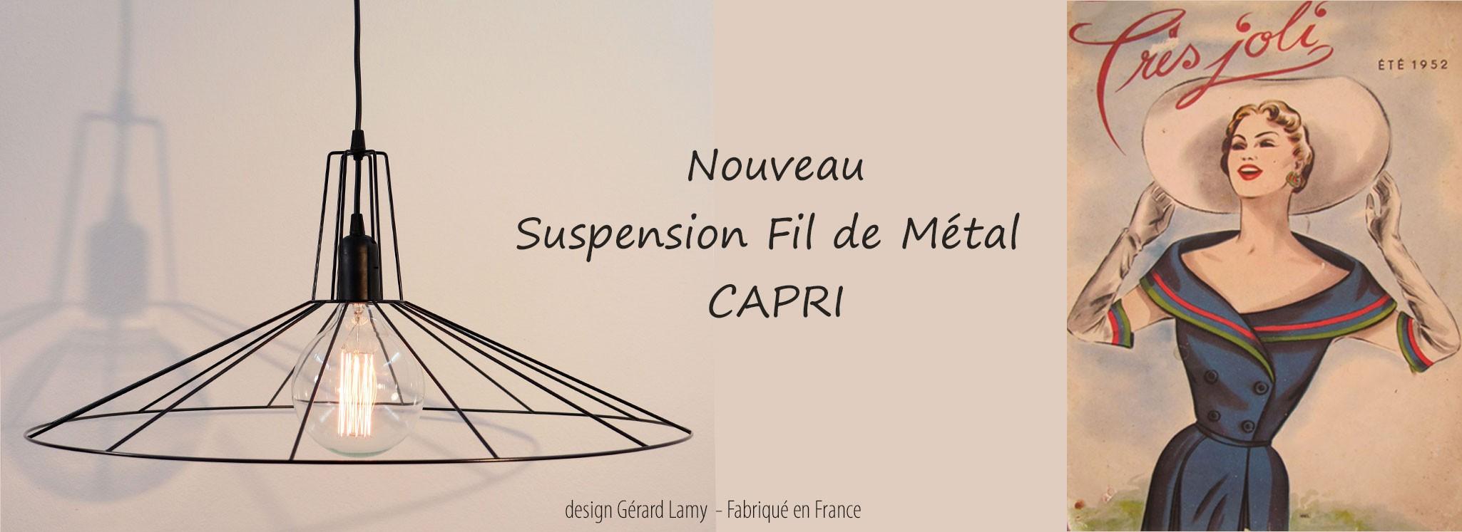 SUSPENSION CAPRI Ø60 CM NOIR
